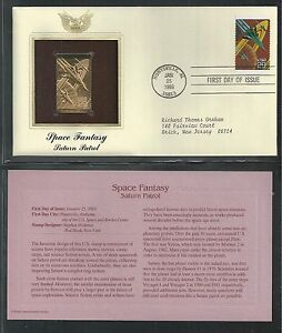 # 2741-2745 SPACE FANTASY, SCIENCE FICTION  1993 Gold Foil FDC (Addressed)