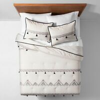 White Embroidered Tassel Comforter Set (Twin/Twin XL) - Opalhouse