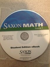 Saxon Math Student Edition Ebook Course 1 CD