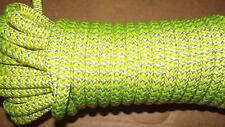 "NEW 7/16"" (11.1mm) x 50' 24-Strand Arborist Climbing Rope, Double Braid"