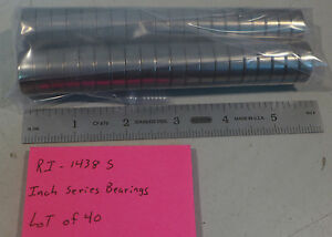 "(40) NMB RI-1438S Inch Series Bearings OD .875"" ID .375"" For Sm Electric Motors"