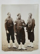 Large Rare Photo Soldiers From Gold Coast Hauses Africa c1900 By Stuart