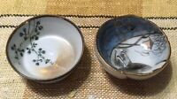 Japanese KUTANI Pottery Shunga Makura-e Sakazuki 2-pieces Rare design Japan