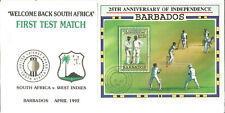 Barbados Independence 25 Anniversary Cover South Africa Cricket Test 1992 U1338