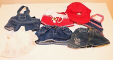 ❤️Build a Bear Plush Denim Jeans Overalls Cheer Top Skirt Outfit Clothes Lot❤️