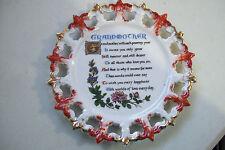 "Lasting Memories 8.5"" Grandmother Wall Hanging Poem Plate"