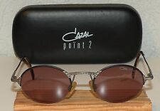 Vintage CAZAL POINT 2 ROSE LENSES BLACK & GUNMETAL SUNGLASSES MOD 1107 COL 488
