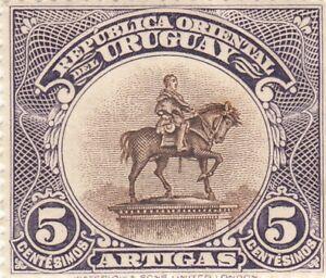 URUGUAY 1923 Unveiling of Monument to Artigas 5 centesimos MLH