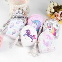 Unicorn Coin Purse Pouch Mini Backpack Bag PU Leather Keychain Pouch Wallets