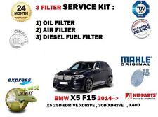 Para BMW X5 F15 25D 30D 40D Diesel 2013 -- > NUEVO ACEITE Aire Combustible Kit De Servicio De Filtro De 3