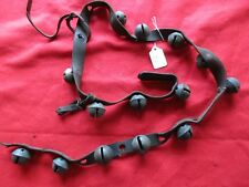 VINTAGE HORSE SLEIGH BELLS, 14 BRASS BELLS WITH LEATHER STRAP,   #CHI-SS21