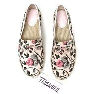 Women Coach Signature Mila FloraL Flat Canvas Slip On Espadrille Pink Multi