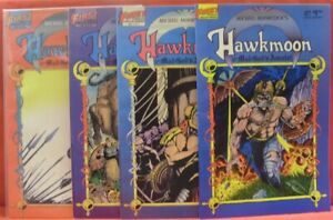 HAWKMOON MAD GOD'S AMULET 1-4 FIRST COMIC SET COMPLETE MICHAEK MOORCOCK 1987 VF+