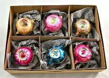 CHRISTMAS MERCURY GLASS BAUBLES TEARDROP DOUBLE CONCAVE VINTAGE ORNAMENTS CB68