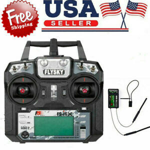 Flysky FS-I6 AFHDS 2A 2.4GHz 6CH Transmitter For RC Helicopter w/FS-iA6 Receiver
