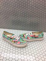 VANS Lo Pro Multi-Color Flamingo Canvas Lace Up Skate Shoes Men's 5  Women's 6.5