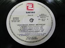 """JOAN MANUEL SERRAT MIS POETAS VINILO III - LP VINYL VINILO 12"""" 1981 SIN PORTADA"""