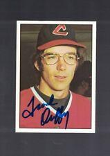 Frank Duffy Cleveland Indians 1975 SSPC Autographed Baseball Card W/COA