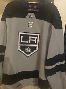 LA Kings 2019-2020 Silver Joakim Ryan Game Worn Jersey with Kings COA