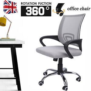 Office Mesh Chair Computer PC Desk 360° Swivel Chair Adjustable Lift Ergonomic