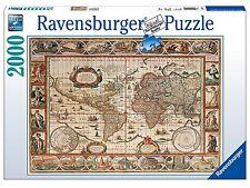 RAVENSBURGER 16633 PUZZLE Carte du monde ANNÉE 1650 2000 Pièces Jigsaw