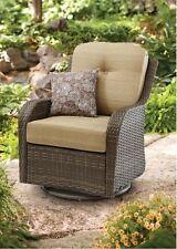 Outdoor Wicker Chair Swivel Rocking Steel Frame Glider Porch Patio Furniture NEW