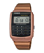 Vintage Casio CA-506C-5A CA-506 Unisex Calculator Watch Rose Gold NEW