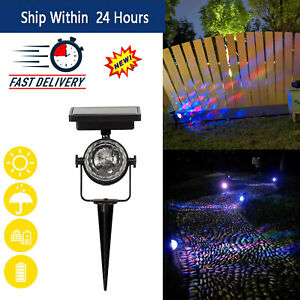 Solar Power Lamp LED Projector Light Colorful Rotating Solar Light Outdoor Decor