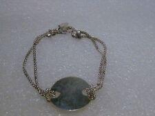 Vintage Sterling Silver Engravable I.D. Bracelet, 2-Strand, Eleganza D'Argento