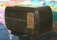 1947 Vintage Phillips RADIOPLAYER Model 101 Radio Bakelite Broadcast SW WW2 tune