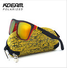 Kdeam Polarized Sunglasses Mens Square Outdoor Sport Cycling Helm Sun Glasses