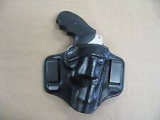 S&W 36, 60, 640 Revolver 2 Clip IWB Leather Conceal Carry Holster CCW BLACK RH