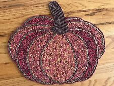 New listing New Family Gatherings Beaded Pumpkin Placemat Halloween Fall Thanksgiving