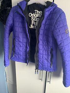 Superdry Ladies Jacket Size L Blue/Purple