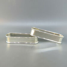 Pair of Alvin Sterling Silver Elongated Napkin Rings
