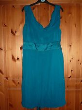 Spotlight by Warehouse size 16 turquoise green dress, cocktail, sleeveless