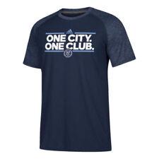 Camisetas de fútbol de clubes americanos y liga MLS de manga corta azul adidas
