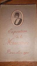 miniature à Bruxelles en 1912. catalogue général 'Exposition de la