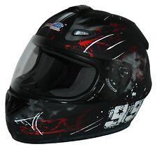 Motorradhelm Integralhelm matt rot schwarz FS-801-99R Größe S bis XL NEU