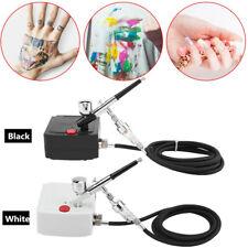 Compresor Aerógrafo Kit Arte en Uñas Tatuaje De Doble Acción Spray Conjunto de pistola de aire Cepillo