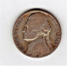1943 S Jefferson nickel in AVERAGE CIRCULATED condition (  35 %SILVER )stk 2