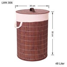 bambou Panier à Linge Boîte à vêtements Coffre à Linge Sac à vêtements lwk006