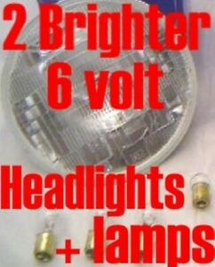2 Halogen headlights Buick, Oldsmobile 1950 1951 1952 Replace Dim Light Bulbs
