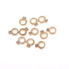 Golden Rings Beads Tibetan Silver Charms Pendant Fit DIY Bracelet 8.5*7mm 10pcs