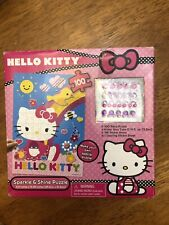 NEW HELLO KITTY  Sparkle and Shine 100 piece Puzzle with Sticker Gems Glitter