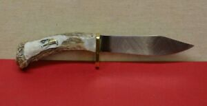 CUSTOM RUSSELL GREEN RIVER WORKS 4215 with Stag Antler Handle Hunting Knife