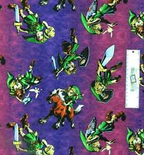 Patchwork Quilting Fabric ZELDA LINK GAME Sewing Material Cotton FQ 50X55cm NEW