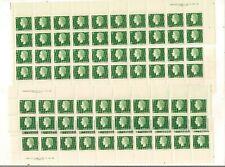 1962/63 CANADA MNH QEII CAMEO 2 CENT PLATEBLOCKS OF 20 PL;#1 ALL 4 CORNERS