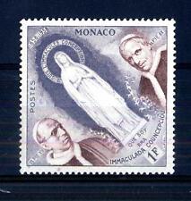 """MONACO - 1958 - Centenario delle apparizioni di Lourdes - 1 f. """"Statua Vergine"""""""