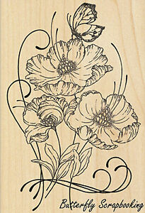 Red Tango, Wood Mounted Rubber Stamp PENNY BLACK - NEW, 4373K